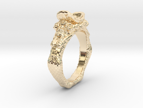 The Mermaids Offering in 14k Gold Plated Brass