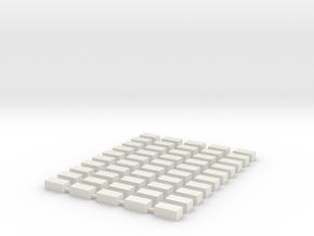 Strohballen klein 50er Set 1:120 in White Natural Versatile Plastic