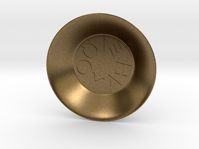 Greek Vowel Charging Bowl (small) in Natural Bronze