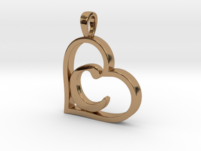 Alpha Heart 'C' Series 1 in Polished Brass