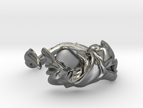 Fabric and Figure Ring in Polished Silver: 5 / 49