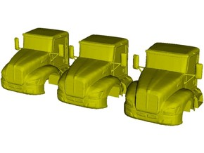 1/87 scale Kenworth T370 truck cabins x 3 in Smooth Fine Detail Plastic