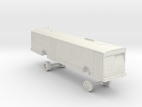 HO Scale Bus Gillig Phantom Westcat 110s in White Natural Versatile Plastic