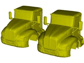 1/87 scale Kenworth T370 truck cabins x 2 in Smooth Fine Detail Plastic