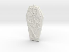 Lucky 13 Coffin in White Natural Versatile Plastic