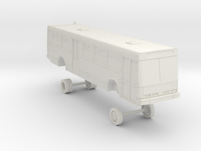 HO Scale Bus NABI 416 Muni 8000s in White Natural Versatile Plastic