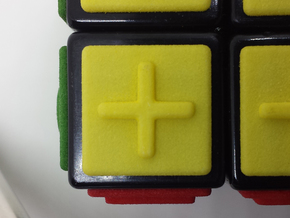 Yellow replacement tile (Rubik's Blind Cube) in Yellow Processed Versatile Plastic