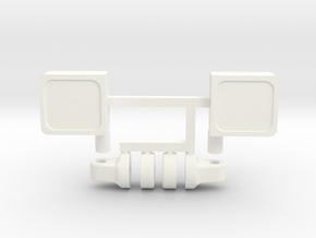 1/10 scale COMPLETE UNIVERSAL MIRRIOR SET in White Processed Versatile Plastic