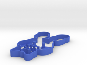 bonnie cookie cutter in Blue Processed Versatile Plastic