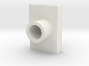 Lens Cap Retangle LED in White Natural Versatile Plastic