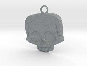 Funny Skull in Polished Metallic Plastic