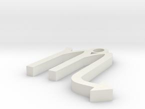 Scorpio Pendant in White Strong & Flexible
