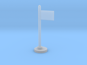 Flag Stand in Smooth Fine Detail Plastic