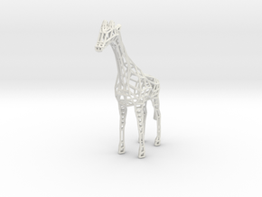 Wire Giraffe in White Natural Versatile Plastic