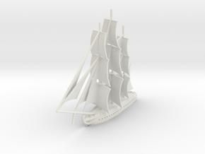 1812 Frigate in White Natural Versatile Plastic: 1:700