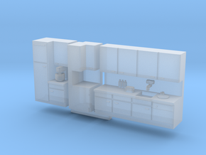 N Scale Kitchen +details in Smooth Fine Detail Plastic