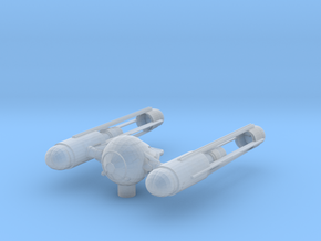 Tie Wing Fighter with Hyperdrive in Smooth Fine Detail Plastic