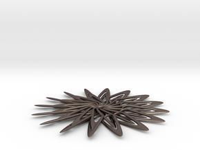Flower  in Polished Bronzed Silver Steel