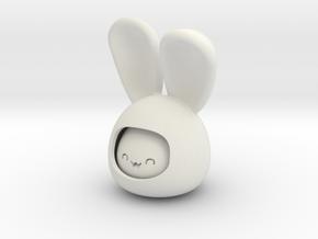 happy rabbit in White Natural Versatile Plastic