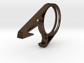 Bottle opener  in Polished Bronze Steel
