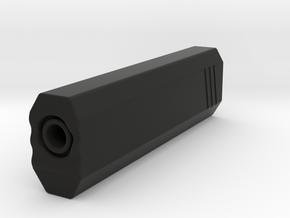 Hexa Airsoft Silencer (14mm Self-Cutting Thread) in Black Natural Versatile Plastic