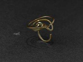 Stay lost | Be found - Ring in Polished Brass