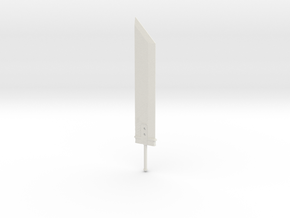 Miniature Buster Sword - Final fantasy 7 in White Natural Versatile Plastic: 1:12