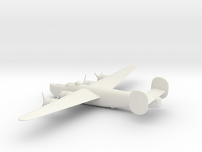Consolidated B-24J (w/o landing gears) in White Natural Versatile Plastic: 1:160 - N