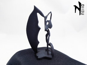 Fox sculpture in Black Natural Versatile Plastic