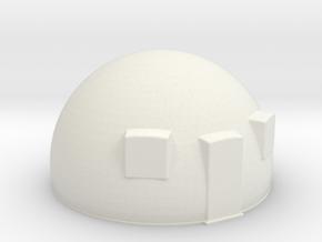 50th scale dome-1 in White Natural Versatile Plastic