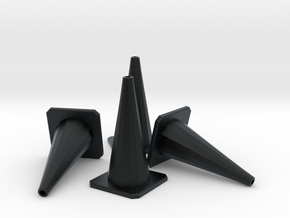 1/24 Traffic Cones X4 in Black Hi-Def Acrylate