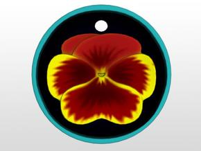 Pansy Pendant in Full Color Sandstone