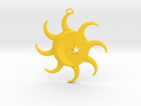 Celestial Pendant in Yellow Processed Versatile Plastic
