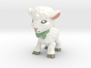 Spring Lamb - Full Color in Glossy Full Color Sandstone