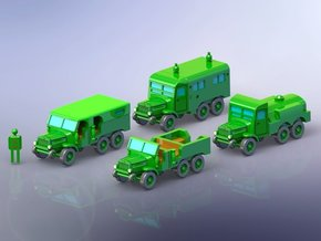 French Laffly S20 Truck Variants 1/144 in Smooth Fine Detail Plastic