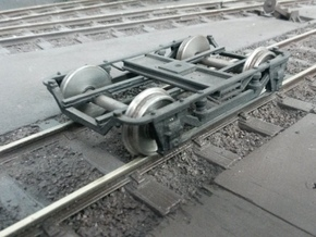 "VR narrow gauge bogie for 29' 6"" cars in White Strong & Flexible"