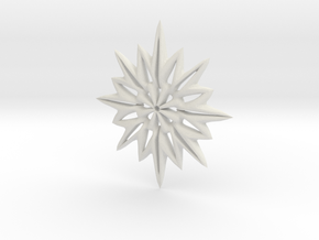 Snowflake Necklace  in White Natural Versatile Plastic