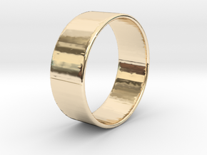 Band Ring  - 14K Rose Gold Plated in 14K Yellow Gold