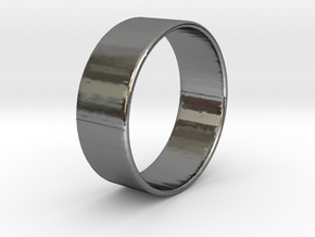 Band Ring  - 14K Rose Gold Plated in Polished Silver