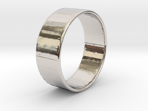 Band Ring  - 14K Rose Gold Plated in Rhodium Plated Brass