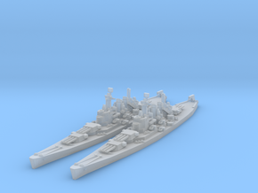 North Carolina class battleship in Smooth Fine Detail Plastic