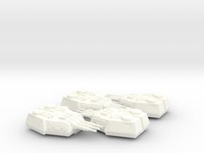 1/270 Large Turrets (4) in White Processed Versatile Plastic: Medium