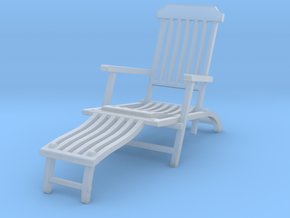Deck Chair Ergonomic various scales in Smooth Fine Detail Plastic: 1:48 - O