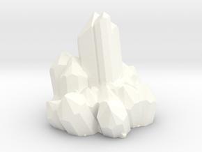 Quarzt Crystals in White Processed Versatile Plastic