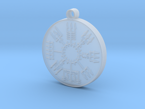 Vegvisir Viking Rune in Smooth Fine Detail Plastic