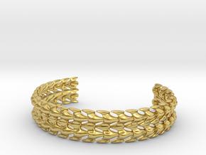 Bones Bracelet in Polished Brass