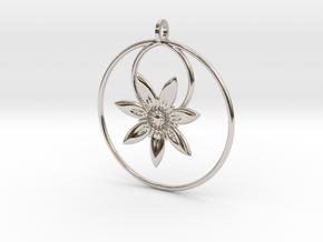 YyFlower Pendant in Platinum