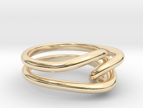 Whitehead ring (US sizes 1.5 – 5.5) in 14k Gold Plated Brass: 5.5 / 50.25