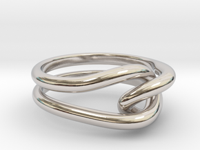 Whitehead ring (US sizes 10 – 13) in Rhodium Plated Brass: 10 / 61.5