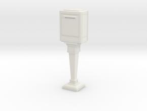 1/43 French Post Box / boîte postale n°2 in White Natural Versatile Plastic